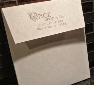 custom printed inside and out with the return address on the flap