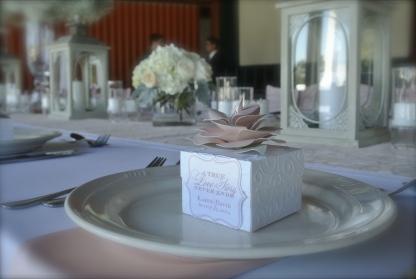 custom made favor box filled with Mackinac Island Fudge