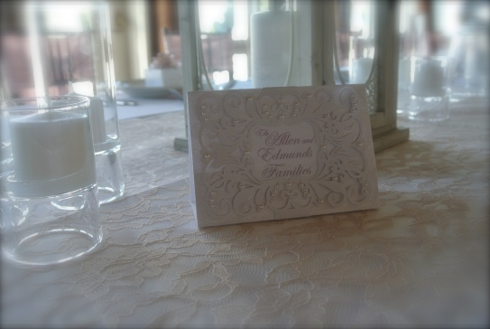 family table names that mimic the wedding invitation