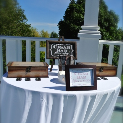 the (surprise for the groom) cigar bar