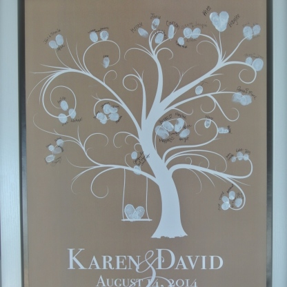 fingerprint tree keepsake
