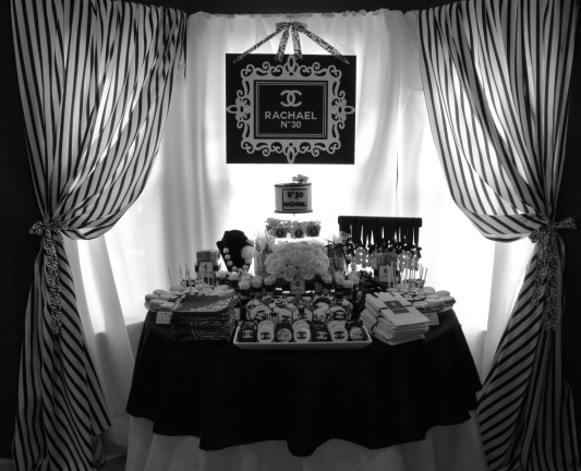 The dessert table