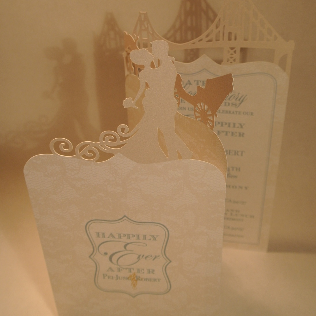 Tri-fold oversized invitation