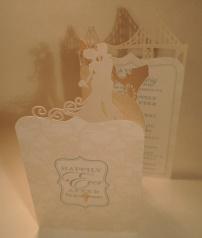 Tri-fold oversized invitation