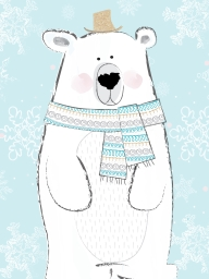 Christmas Polar Bear