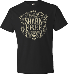 shark free on black