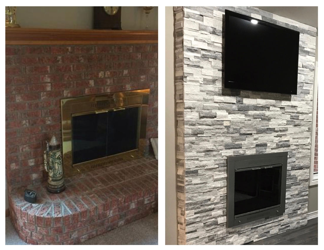 Orchardview fireplace before and after