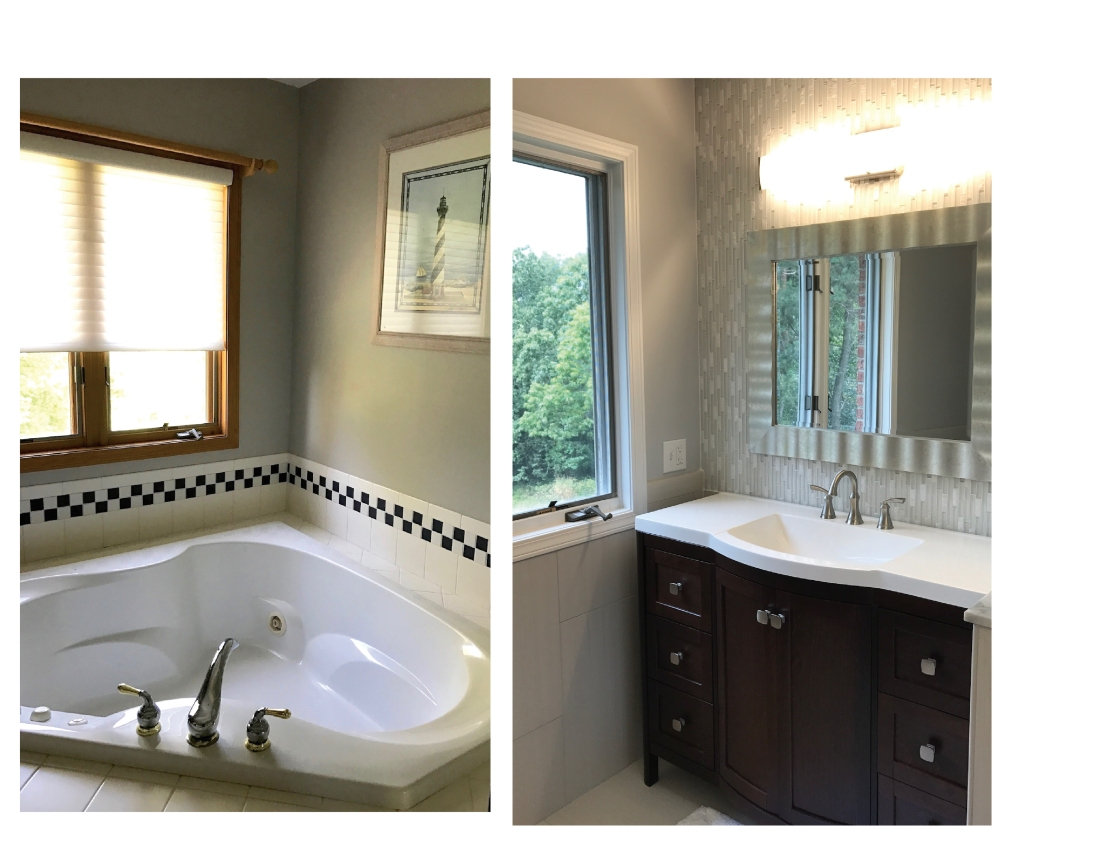 Orchardview master bath tub to vanity